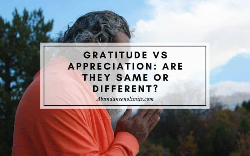 Gratitude vs Appreciation