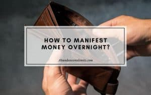 manifest money quickly and easily