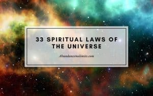 33 spiritual laws of the universe