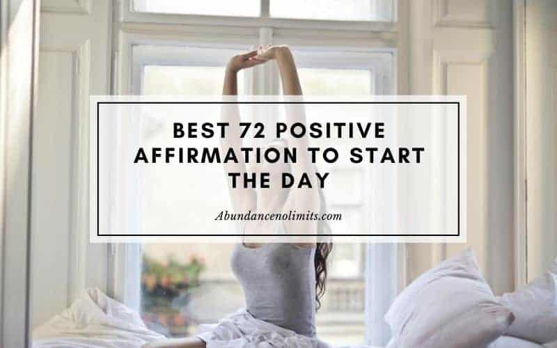 Positive Affirmation to Start the Day