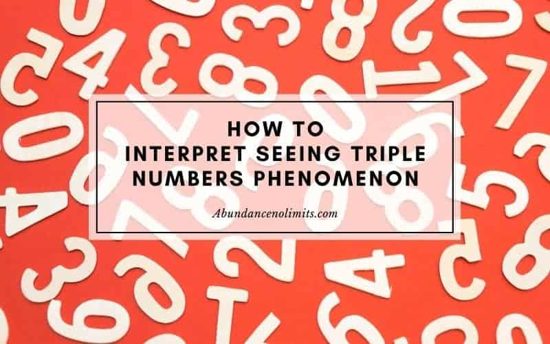 How to Interpret Seeing Triple Numbers Phenomenon