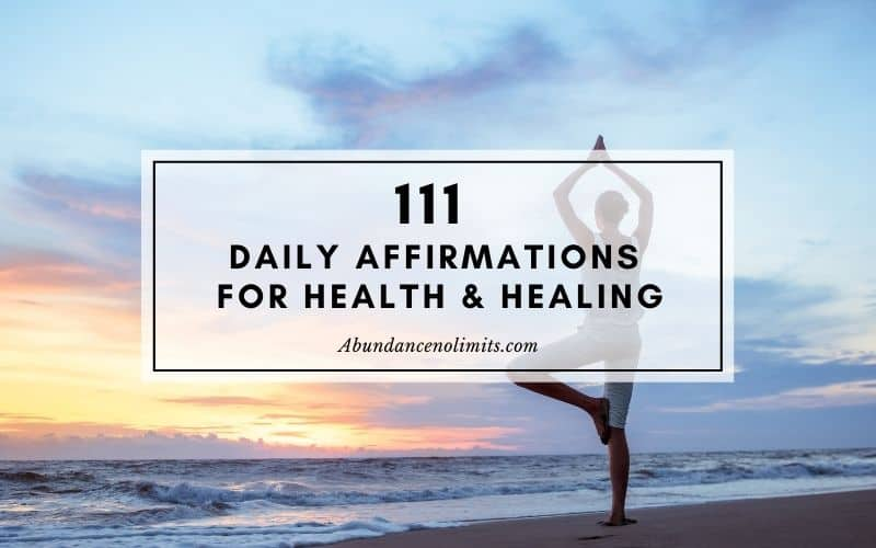 Daily Affirmations for Health and Healing