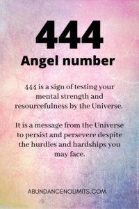 444 Angel Number Meaning
