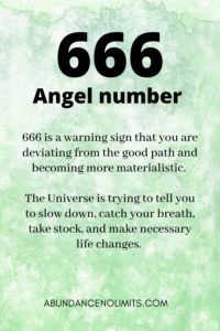 666 Angel Number Meaning