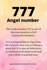 777 Angel Number Meaning