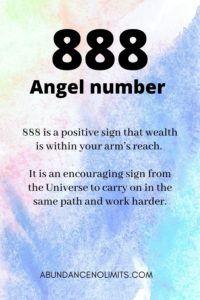 888 Angel Number Meaning
