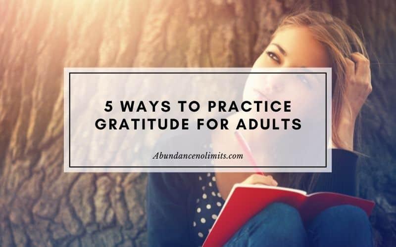 Gratitude Activities for Adults