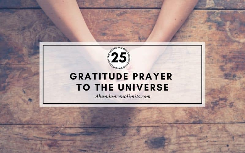 Gratitude Prayer to the Universe