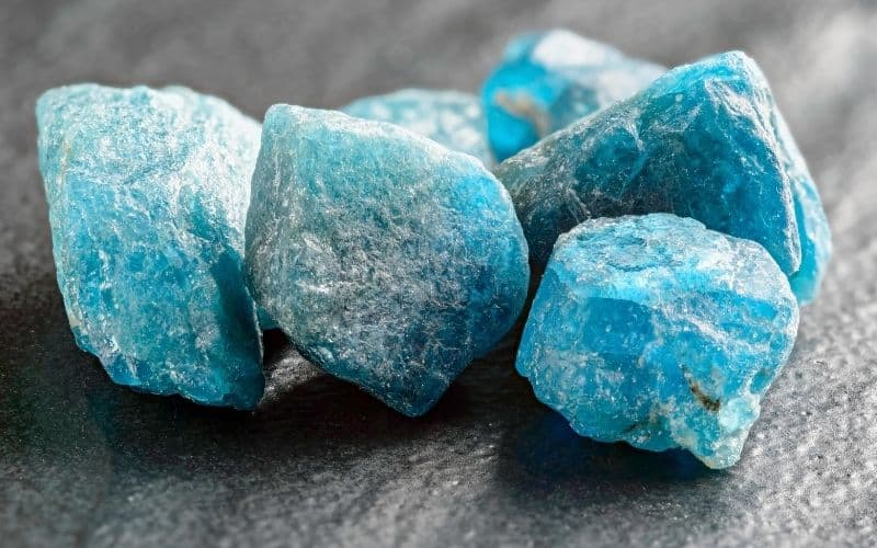Throat chakra stone blue color