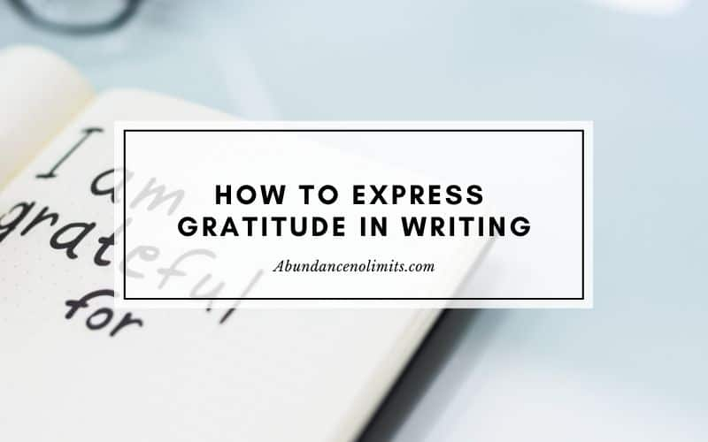 How to express gratitude in writing