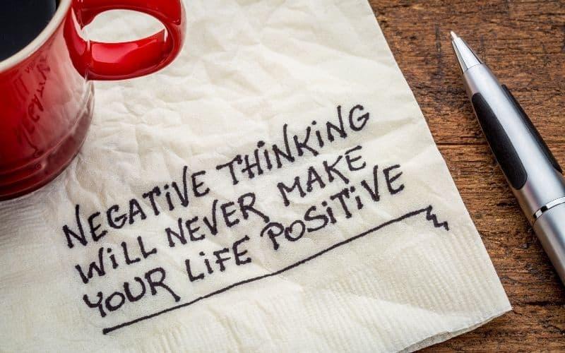 exercises to stop negative thinking