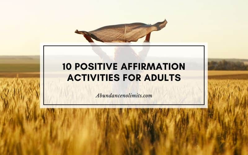 Positive Affirmation Activities for Adults