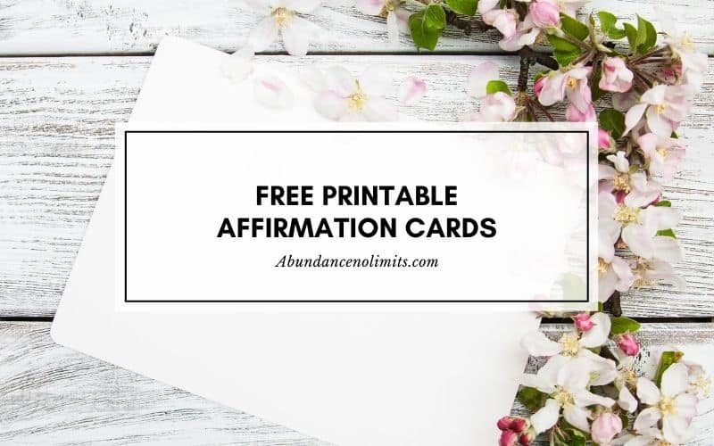 free printable affirmation cards