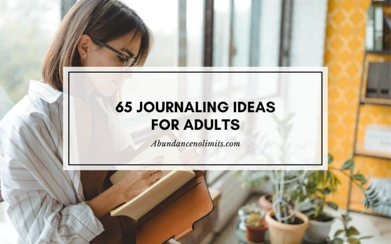 journaling ideas for adults